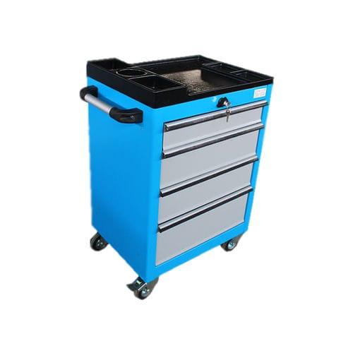 workshop cabinet / on casters / 4-drawer / metal
