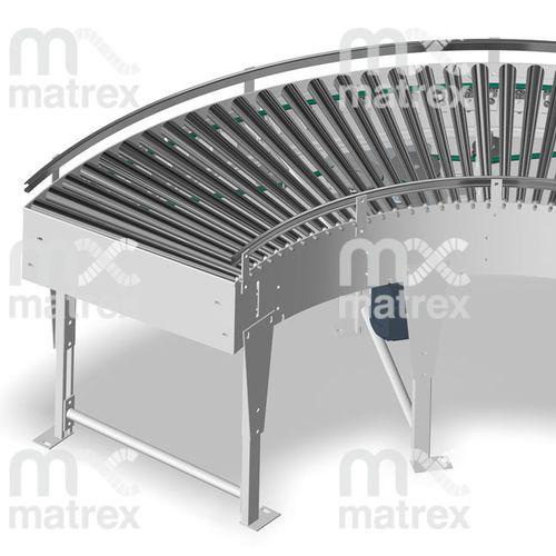 belt conveyor / driven roller / for boxes / for parcels