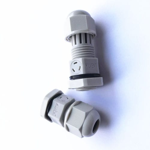 PA cable gland / IP68 / threaded / ventilation