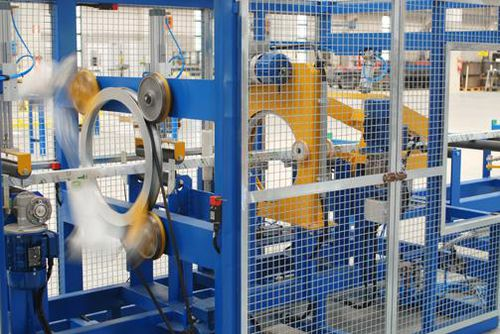 orbital wrapping machine / for profiles