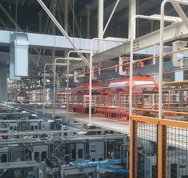 chain conveyor / horizontal / for process applications / monorail