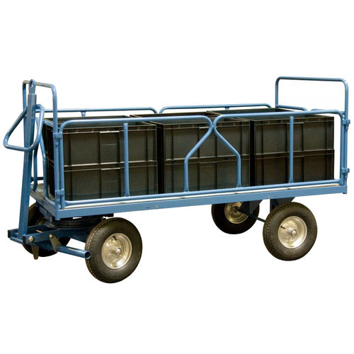 2-axle trailer / for industrial materials / container / with swiveling front axle