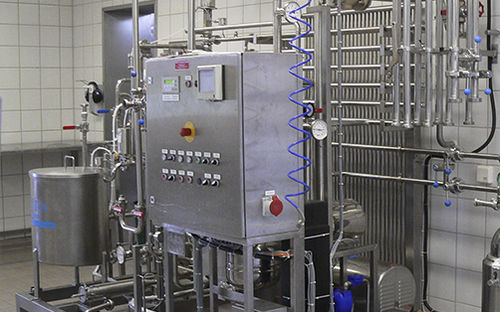 processed cheese processing line / for the food industry / milk