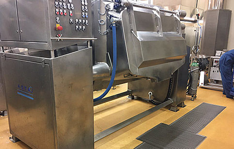 steam industrial cooker / with mixer / batch