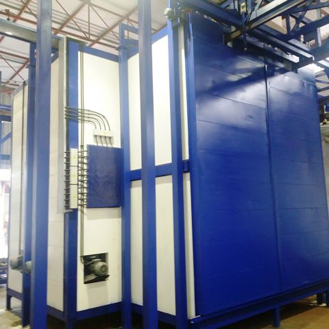powder coating oven / chamber / infrared