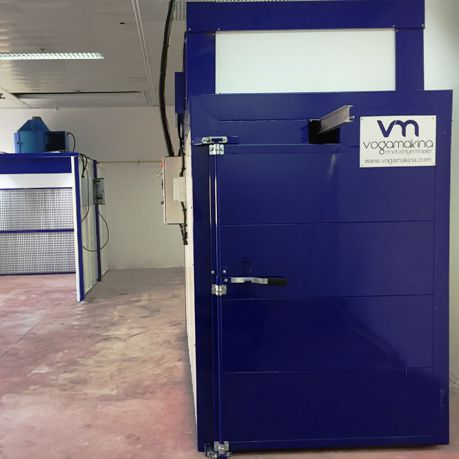 manual paint booth / open / for parts