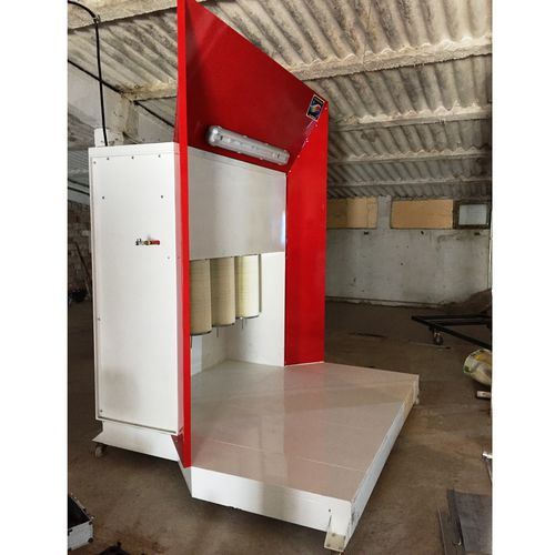 open powder coating booth / cartridge filter / manual