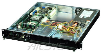 rack-mount PC chassis / 1U / backplane / for mini-ITX motherboards