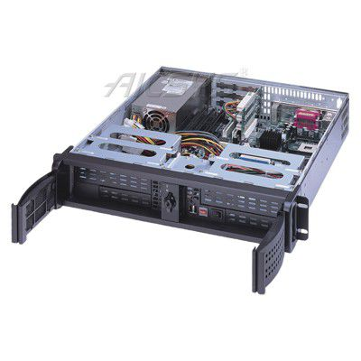Benchtop PC chassis / rack-mount / 2U / for mini-ITX motherboards RCK-204MA AICSYS Inc
