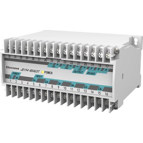 AC voltage transducer / three-phase / DIN rail