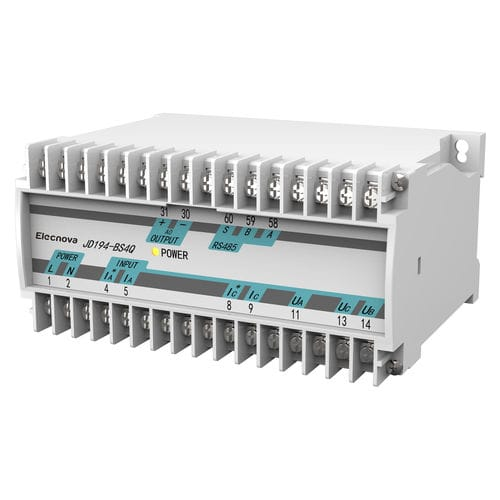 DIN rail power transducer / three-phase