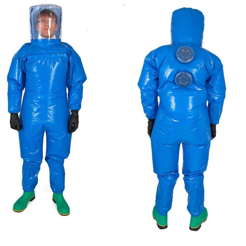 work coveralls / chemical protection / laminated material / fabric