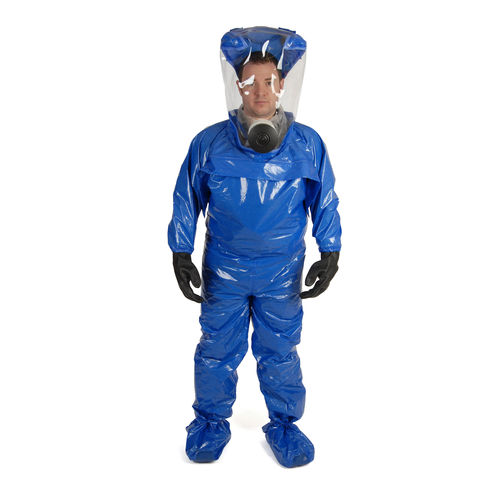 work coveralls / chemical protection / laminated material / PVC
