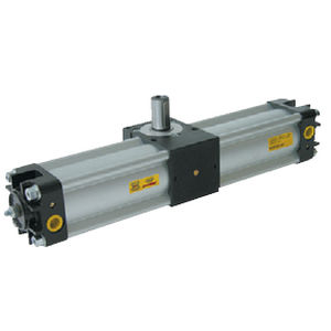 rotary cylinder / pneumatic / double-acting / rack-and-pinion