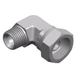 male-female fitting / threaded / tapped / 90° angle