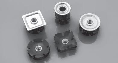 threaded insert / steel / round / square