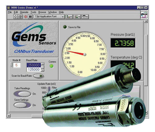 Relative pressure transducer / membrane / digital / precision 9000 series GEMS SENSORS & CONTROLS