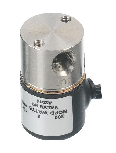 3-way solenoid valve / 2-way / stainless steel / miniature