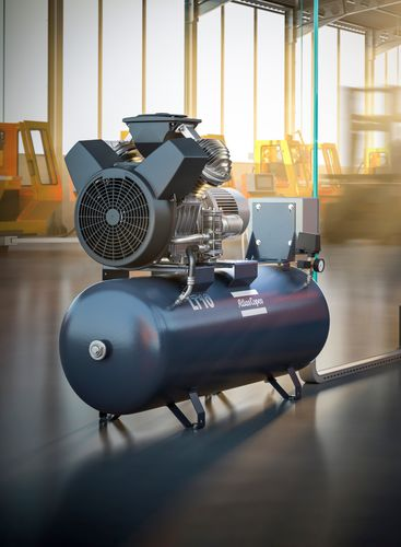 air compressor / stationary / with combustion engine / piston