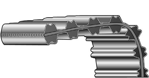 toothed transmission belt / double-sided / metric