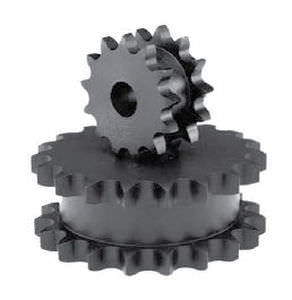 Straight-toothed sprocket wheel / double / for chain Cross & Morse