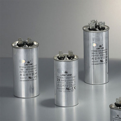 metalized polypropylene film capacitor / aluminum / cylindrical / discharge