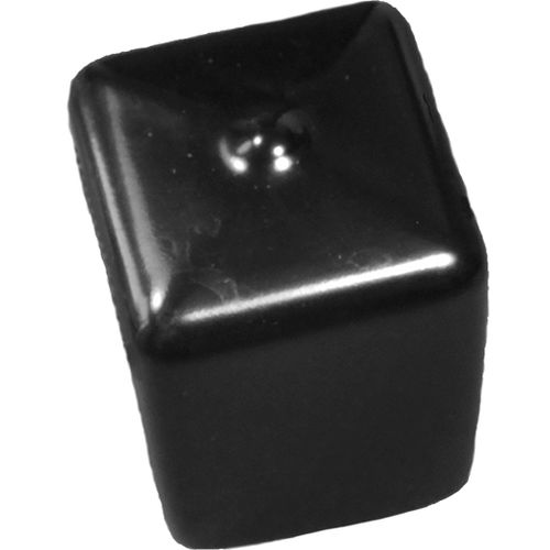non-threaded end cap / square / PVC / protective