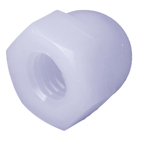 hexagonal nut / plastic / threaded