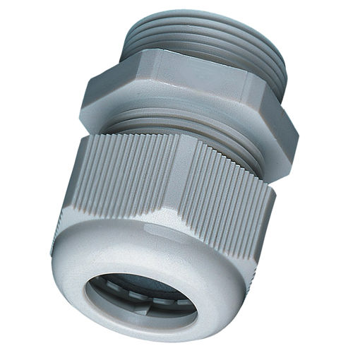 nylon cable gland / IP68 / threaded / straight