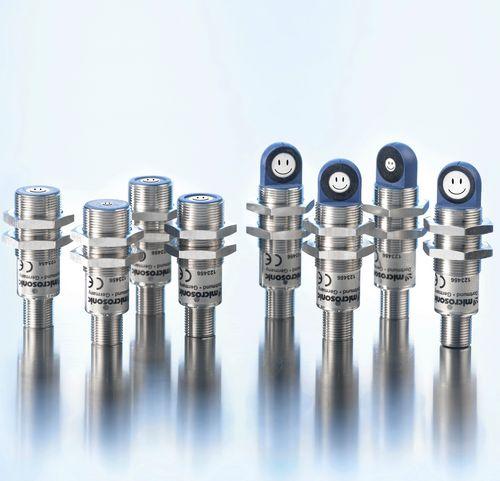 Ultrasonic distance sensor / cylindrical / temperature-resistant pico+ microsonic
