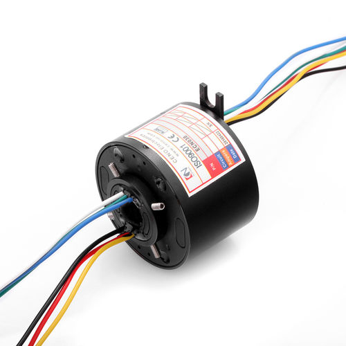 electric slip ring / hollow-shaft / robotic / for rotary tables