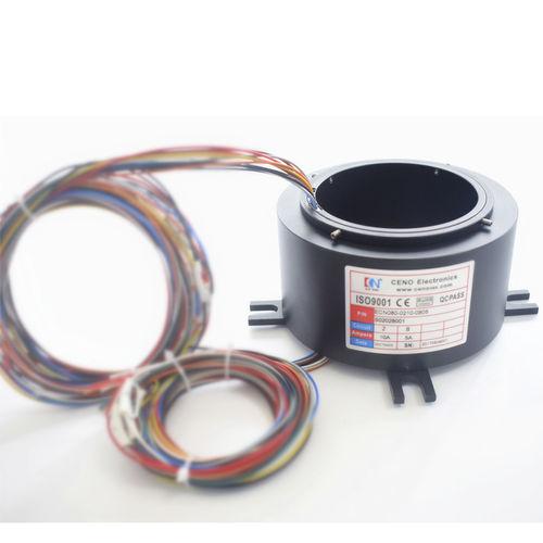 electric slip ring / through-bore / robotic / medical