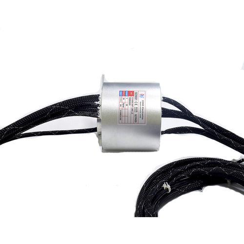 hollow-shaft slip ring / for measurement instruments / metal / flange