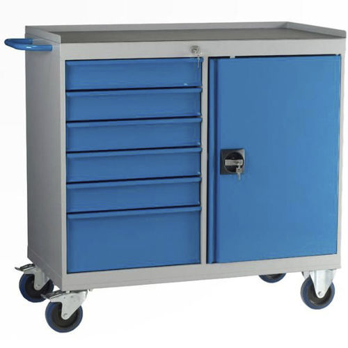 storage cabinet / on casters / with drawer / shelf