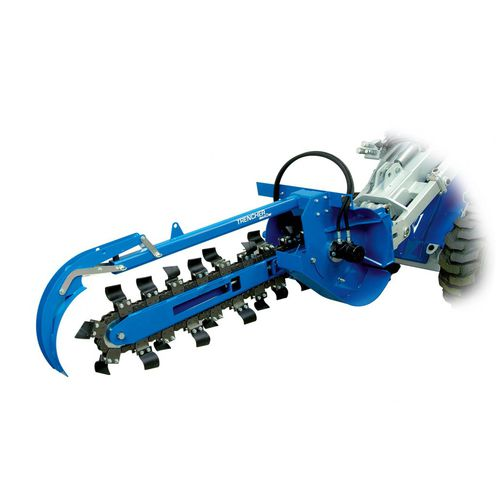 chain trencher / rubber-tired / for skid steer loaders