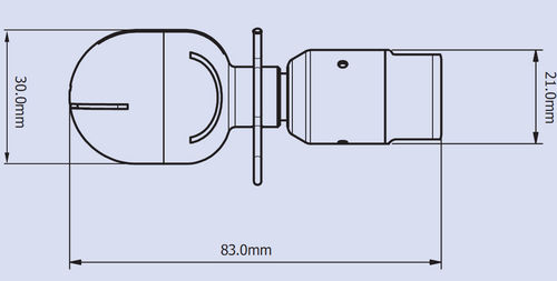 cleaning nozzle / for liquids / straight jet / stainless steel