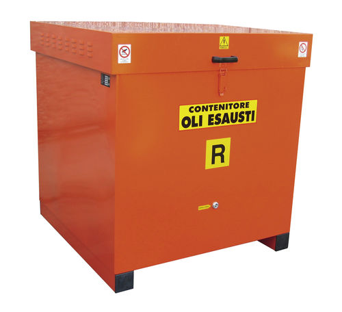 Stainless steel crate / waste mineral oil collection STO series SALL Srl