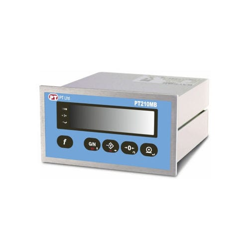 LED display weight indicator / panel-mount / for harsh environments / stainless steel