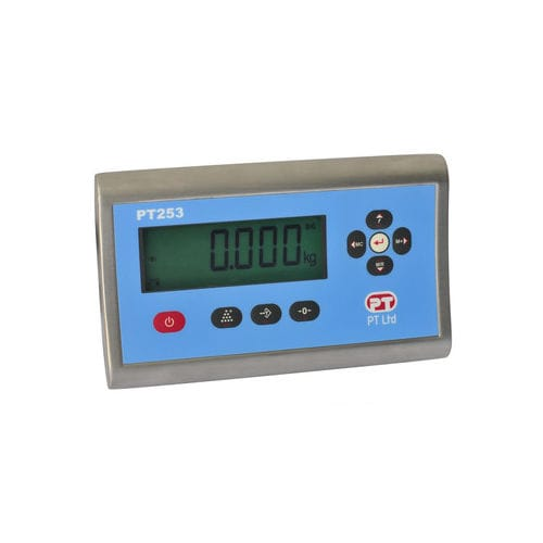 LCD display weight indicator / panel-mount / IP65 / stainless steel PT253 series PT Limited