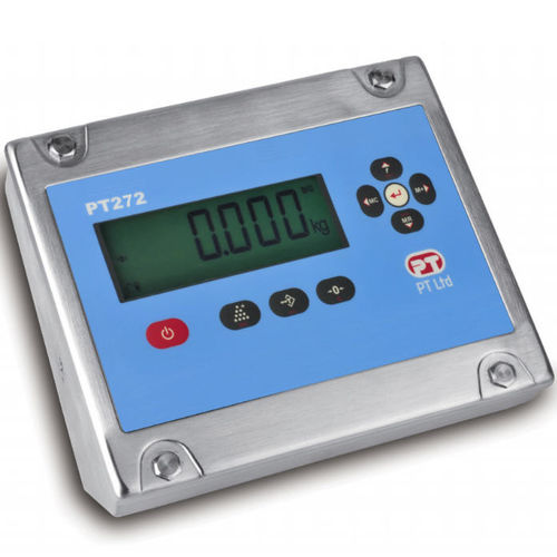 Digital weight indicator / panel-mount / IP67 / stainless steel PT272 PT Limited