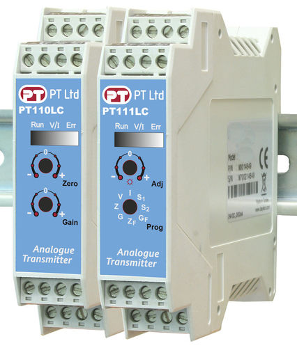 Load cell signal conditioner / DIN rail / analog PT11x series PT Limited