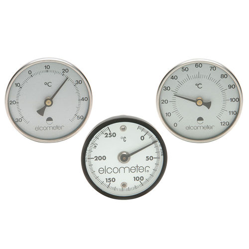magnetic thermometer / bimetallic / analog / stationary
