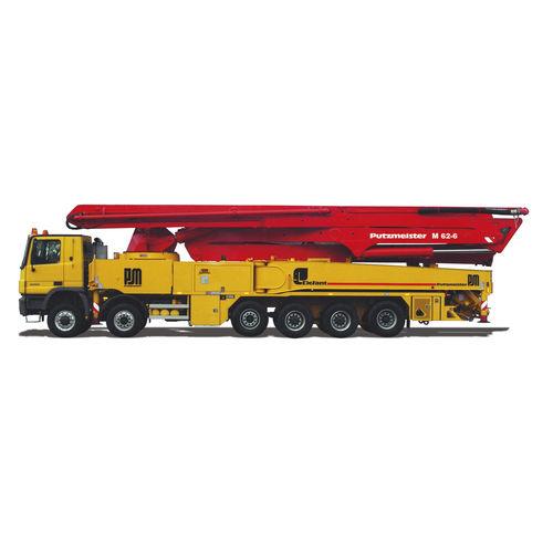 Construction truck-mounted concrete pump M 62-6 Putzmeister