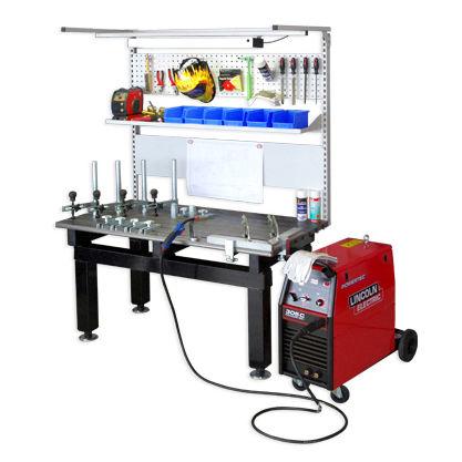 welding workstation / modular / mobile / height-adjustable