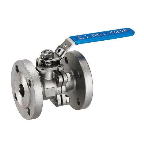 ball valve / lever / flange / 2-piece