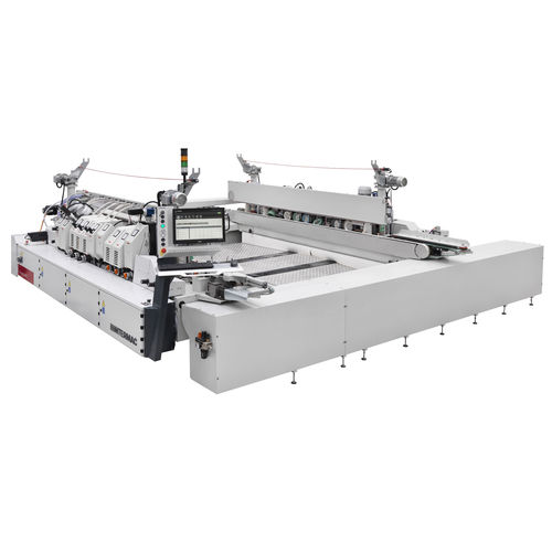 double edge-trimming machine / CNC / for glass