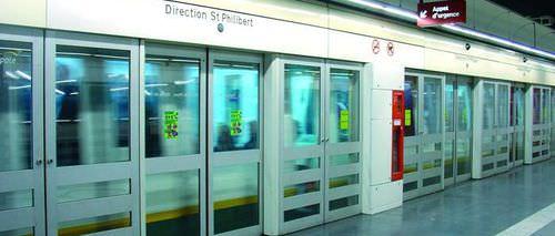 sliding door / platform screen / industrial / automatic