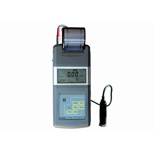 machine monitoring vibration meter / portable / with printer / digital