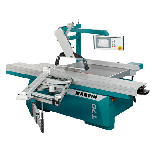 sliding table saw / wood / automatic / high-performance