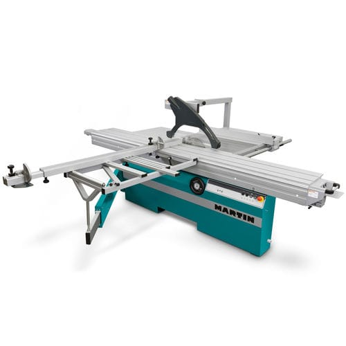 sliding table saw / wood / automatic / with tilting blade